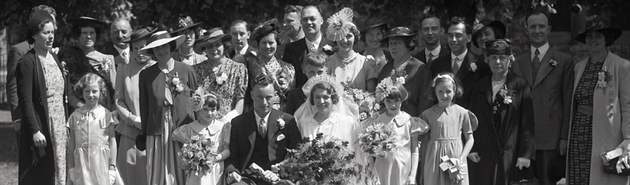 Image showing a wedding, c1924.